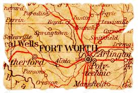 fort worth map fort worth on an torn map from 1949 isolated part