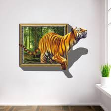 2017 wall stickers 3d tigers picture frame extra large pvc 2017 wall stickers 3d tigers picture frame extra large pvc removable creative kids room wall decal wall mural stickers wall murals and decals from