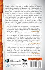 3 12 179 individual master guerrilla marketing and joint ventures million dollar partnering