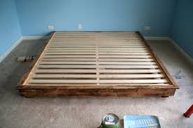Wooden Platform Bed Frame Plans by Build A King Sized Platform Bed Diywithrick