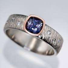 engagement ring cushion cut textured rasp engagement ring with cushion cut chatham alexandrite