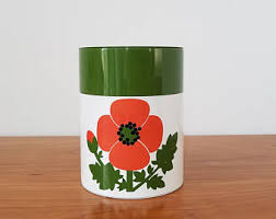 vintage retro kitchen canisters vintage kitchen canisters etsy
