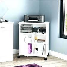 Printer Storage Cabinet Computer Desk With Printer Storage Cabinet Bush Series A Cherry 4