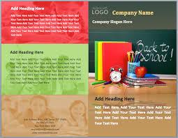 school brochure design templates back to school brochure template word templates