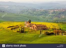 country house asciano tuscany italy europe publicground stock