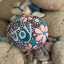 One Of A Kind Home Decor by Rock Art Hand Painted Rock Painted Stone Mandala Design One Of