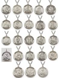 men s religious jewelry men s sterling silver engraved patron medals a j