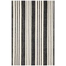Black White Striped Rug Dash U0026 Albert Birmingham Black Cotton Rug