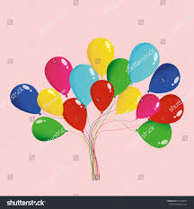 balloons holiday birthday party multicolored inflatable stock