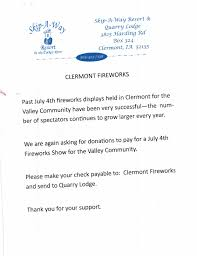 Asking For Donations Letter by Fireworks Donation Letter City Of Clermont Iowa