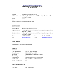 investigation report template 17 free sample example format