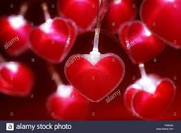 valentines lights heart fairy lights s day background stock photo
