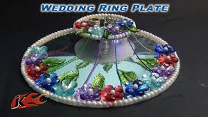 wedding platter diy engagement wedding ring platter with led light how to make