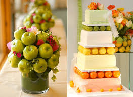 Fake Fruit Centerpieces by Fall Wedding Archives Chicago Wedding Blog