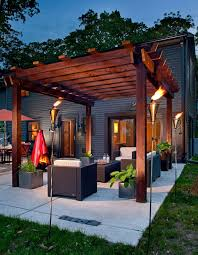Tiki Outdoor Furniture by Patio Decorating Ideas Patio Contemporary With Fire Pit Brown