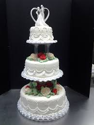 wedding cake tiers 3 tier wedding cakes with pillars tier wedding cake by roly s