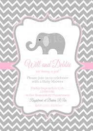 pink elephant baby shower invitations marialonghi com