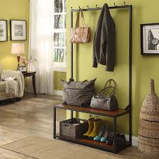 Entryway Coat Rack With Bench by Bench Westportdeluxebenchcushion Stunning Metal Entryway Bench