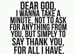 dear lord thank you for all the blessings you given me in my