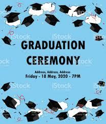 graduation poster graduation poster throwing graduation hats in the sky stock vector
