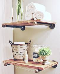 bathroom bathroom colors ideas industrial style wall shelves
