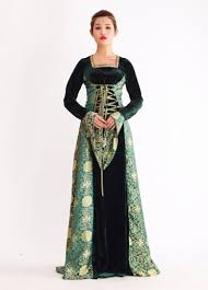 Evil Queen Costume Royal Long Sleeve Lace Up Floral Print Evil Queen Costume