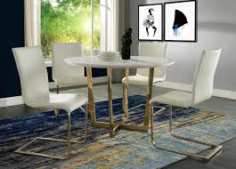 Dining Room Sets White Tov Furniture Maxim Dining Table Set White G5463 64 At