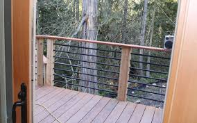 deck railing this deck railing has a wooden top
