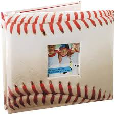 sports photo albums mbi sport and hobby postbound album 8 x 8 baseball 6448753 hsn