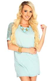 womens clothing party dresses seafoam round neckline short sleeve