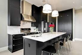 Pictures Of Black Kitchen Cabinets Black Kitchen Cabinets Installed For Amusing Small Penthouse