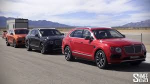 bentley red 2016 bentley bentayga on the race track youtube