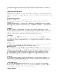 executive summary templates startup business executive summary