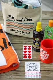 wedding hotel gift bags thank your guests for traveling with these destination favors