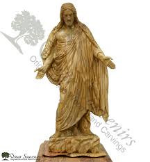 statue of original omar s olive wood carving from