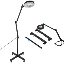 Led Magnifier Floor Lamp Pro 5x Diopter Magnifying Floor Stand Lamp Magnifier Glass Len