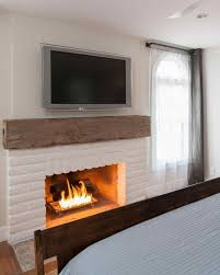 painted brick fireplace modern brick fireplace google search for