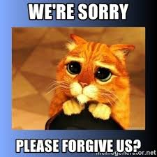 We Re Sorry Meme - we re sorry please forgive us puss in boots eyes 2 meme generator