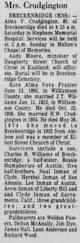 Abilene Reporter News From Abilene Texas On March 10 1955 by Dorothy Marie Walker Nee Crudgington From Abilene Reporter News 21