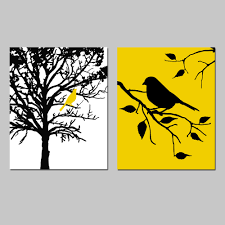 love these so much birds and trees set of two 8x10 prints