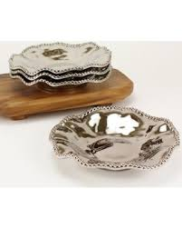 find the best deals on pa bay serving dishes set silver bowl