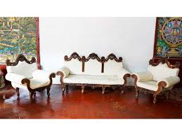 Wood Sofa Set - Teak wood sofa sets