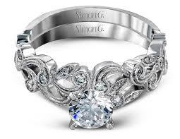 simon g engagement rings simon g floral milgrain engagement ring tr473 arden jewelers