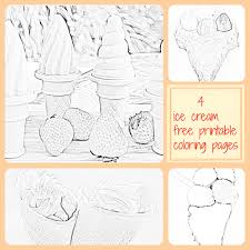 4 ice cream coloring pages free printable for kids kiddie foodies