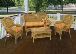 Outdoor Rattan Furniture Elegant Light Brown Rattan Furniture Set With Tufted Cushion Pads
