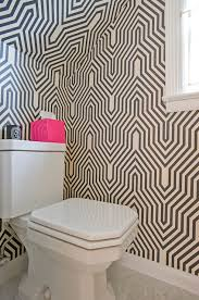 geometric wallpaper contemporary bathroom donna piskun design