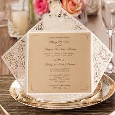 laser cut wedding invitations kits ivory flowers party invitation