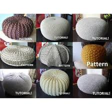 Crochet Ottoman Pattern 9 Knitted Crochet Pouf Floor Cushion Patterns Crochet Pattern