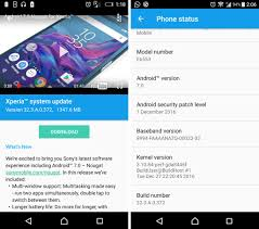 sony xperia z3 android 7 0 nougat update rolling out build 32 3