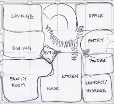 bubble diagram house plan concept drawings pinterest
